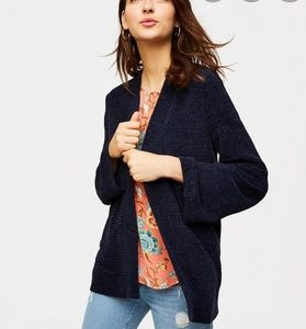 Loft Navy Blue Flare Sleeve Cardigan